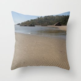Walking Towards Monkey Island Palolem Throw Pillow