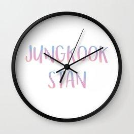 Jungkook Stan Wall Clock