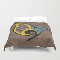 persian Duvet Covers featuring Persian Bird by Katayoon Photography & Design