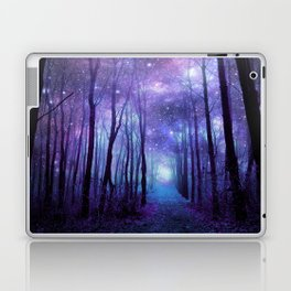 Fantasy Forest Path Icy Violet Blue Laptop & iPad Skin