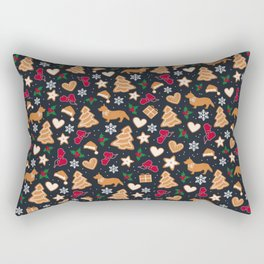 Gingerbread pups | Corgi Rectangular Pillow