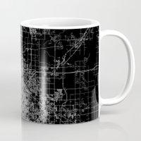 oklahoma Mugs featuring Tulsa map Oklahoma by Line Line Lines