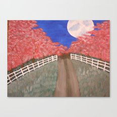 Cherry Blossom Pathway Canvas Print