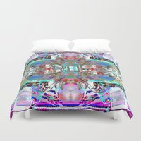 rave Duvet Covers featuring RATE RAVE by Riot Clothing