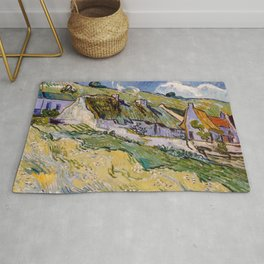 """Vincent van Gogh """"Cottages"""" Rug"""