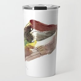 Watercolor Wingtip #1 Travel Mug