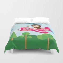 nursery decor , children gift, birthday gift Duvet Cover