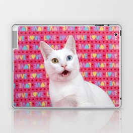 Happy Valentine's Day Kitten Laptop & iPad Skin