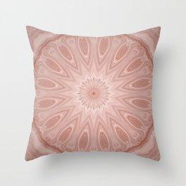 Rose Pink Mandala Throw Pillow