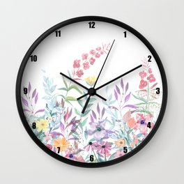 Sweet Spring Meadow Wall Clock
