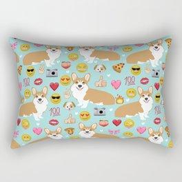 Corgis emoji pattern cute welsh corgis gifts for pure breed dog lovers Rectangular Pillow