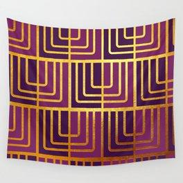 Art Deco Rag Doll In Purple Wall Tapestry