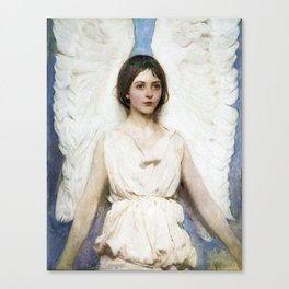 Beautiful Angel With White Wings Canvas Print
