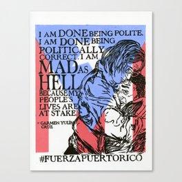 #FuerzaPuertoRico Canvas Print
