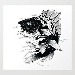 Cool Fish Art Print