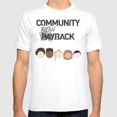 Community Blowback White MEDIUM Mens Fitted Tee