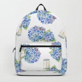 Blue Hydrangea, Still Life Backpack