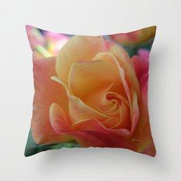 Rose Shade Pastels Throw Pillow