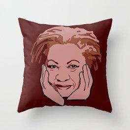 Toni Morrison Throw Pillow