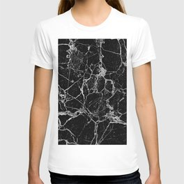 Black Marble with White Veining T-shirt