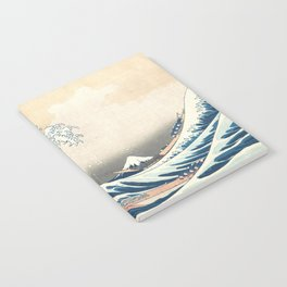 The Great Wave off Kanagawa by Katsushika Hokusai from the series Thirty-six Views of Mount Fuji Notebook