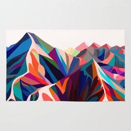 Mountains sunset warm Rug