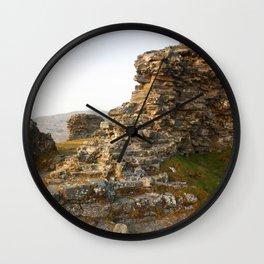 Dinas Bran Castle Ruins Wall Clock