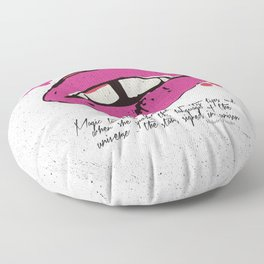 Magic tumbled pretty lips Floor Pillow
