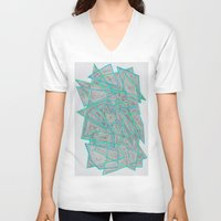 darren criss V-neck T-shirts featuring Criss-Cross by Stro