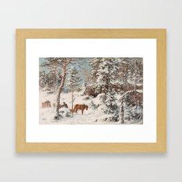HJALMAR MUNSTERHJELM, FOREST VIEW FROM HAUHO, HÄME Framed Art Print