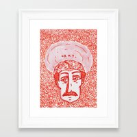 okay Framed Art Prints featuring okay by justine leigh