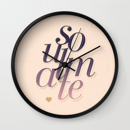 Soulmate Pink #society6 #decor #buyart Wall Clock