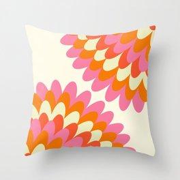Dahlia at 60's Throw Pillow