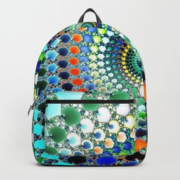 Fractal Spiral Trippy Art Print Backpack