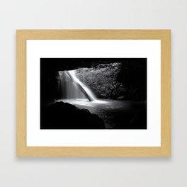 The Cavern Black and White Framed Art Print