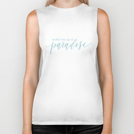 Wake Me Up In Paradise Biker Tank