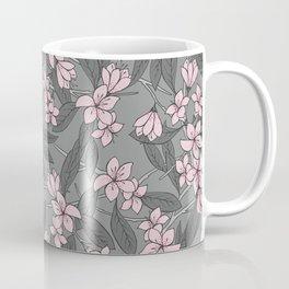 Sakura Branch Pattern - Ballet Slipper + Neutral Grey Coffee Mug