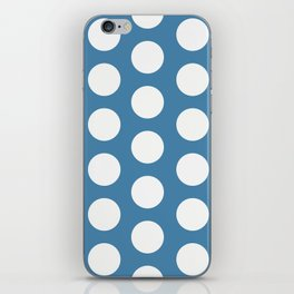Large Polka Dots on Blue iPhone Skin