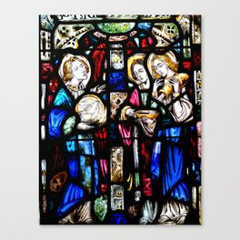 Stained Glass Photpgraph Canvas Print