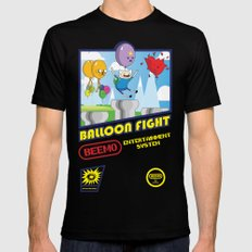 Adventure Time Balloon Fight Black MEDIUM Mens Fitted Tee