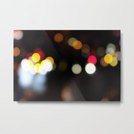 Blurry Lights WYR Metal Print