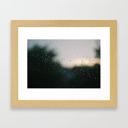 Rainy Downs Framed Art Print