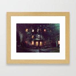 Allston at Night Framed Art Print