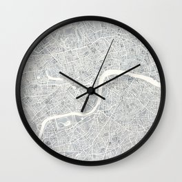 City Map London watercolor map Wall Clock
