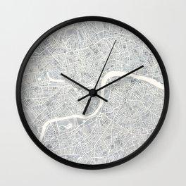 City Map London watercolor map Wall Clock