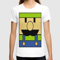luigi T-shirts featuring Minimal Luigi by pruine