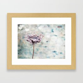 A Cold Day for Flowers Framed Art Print