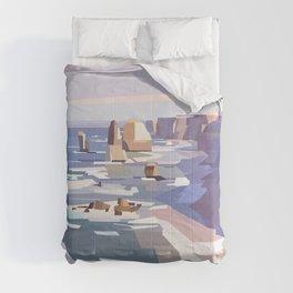Geometric Great Ocean Road Comforters
