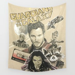 Guardians of the galaxy montage Wall Tapestry
