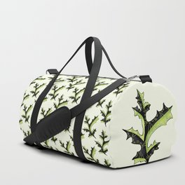 Bizarre Oak Leaf With Tribal Tattoos Duffle Bag